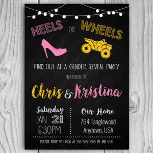 Heels or Wheels (ATV) Gender Reveal
