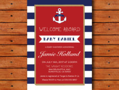 Baby shower for Boy Nautical Theme