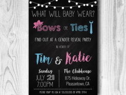 Bows or Ties Gender Reveal Invitation