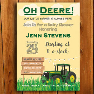 Oh Deere Baby Shower Invitation