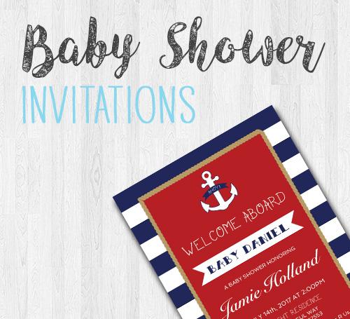 Nautical Theme Baby Shower Invitation