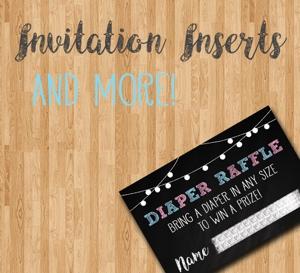 Invitation Inserts & More!