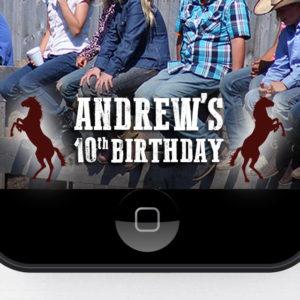 Cowboy Birthday Snapchat Geofilter