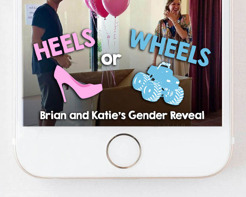 Heels or Wheels Gender Reveal Snapchat Geofilter