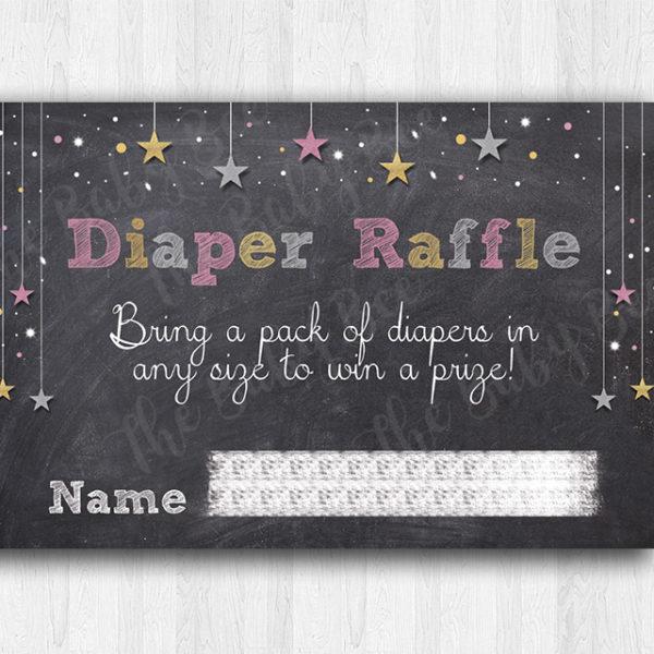 Twinkle Twinkle Diaper Raffle Insert