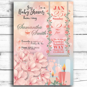 Garden Party Themed Printable Baby Shower Invitation