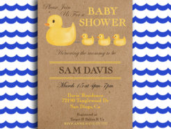 Rubber Duck Printable Baby Shower Invitation