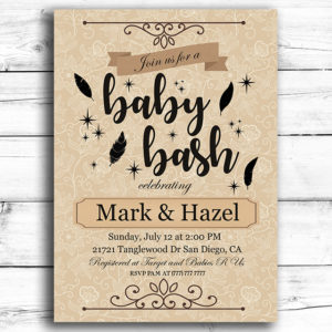 Baby Bash Printable Baby Shower Invitation