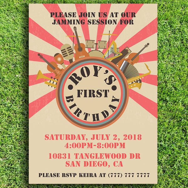Musical Birthday Party Invitation