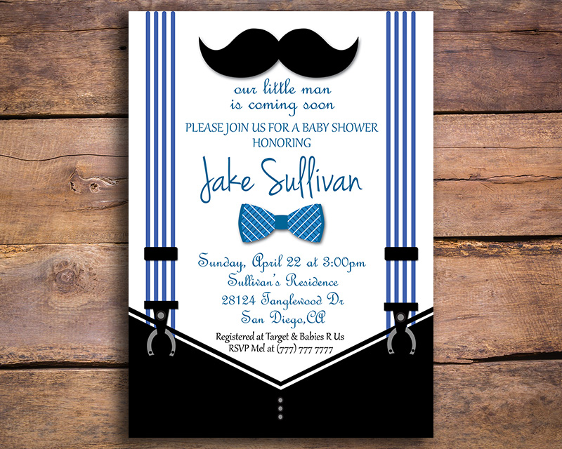 Bowtie and mustache printable baby shower invitation the baby bee bowtie and mustache printable baby shower invitation filmwisefo