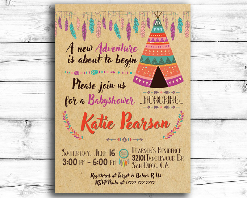 Print-it-Yourself Baby Shower Invitations | The Baby Bee
