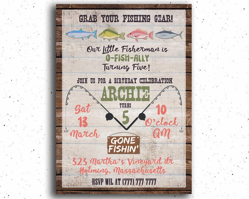 Fishing Birthday Party Invitation