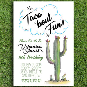 Taco 'Bout Fun Birthday Party Invitation