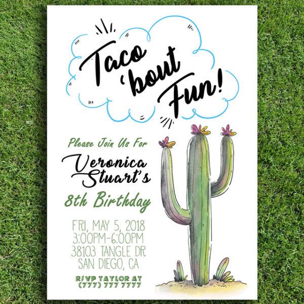 Taco 'Bout Fun Birthday Party Invitation