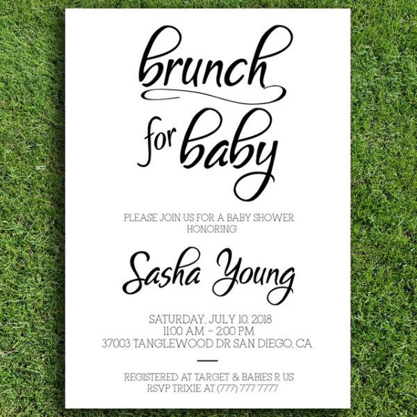 Brunch for Baby Baby Shower Invitation