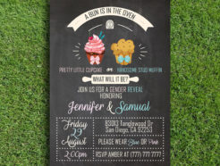 A Bun is in the Oven Gender Reveal Invitation