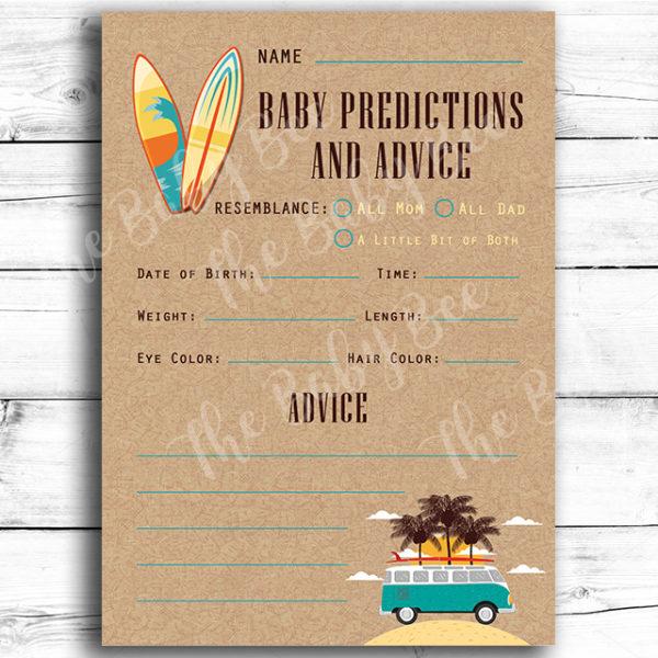 Surf and Beach Themed Advice Card