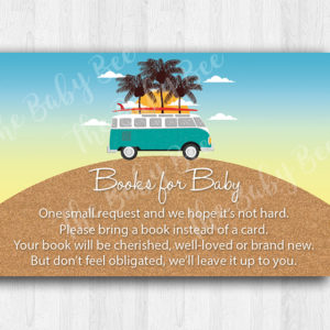 Surf and Beach Themed Book Request Insert