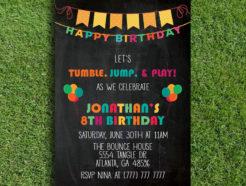 Tumble, Jump & Play Birthday Invitation